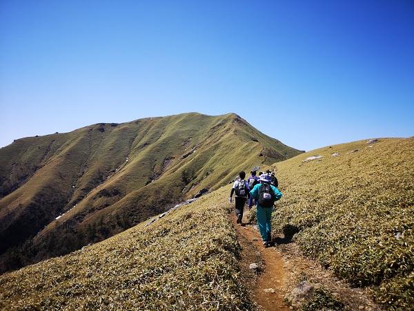 剣山稜線の風景